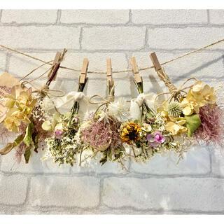 ドライフラワー スワッグ ガーランド❁418スモークツリー 紫陽花 秋色 花束
