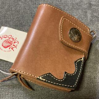 レッドムーン(REDMOON)の⭐︎未使用⭐︎レッドムーン ショートウォレット 2つ折り財布 サドルレザー本革(折り財布)