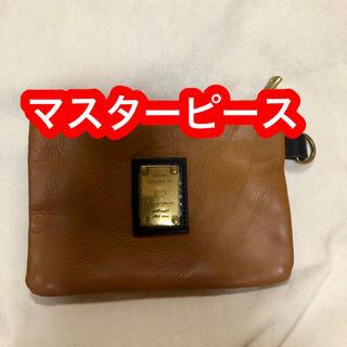 master-piece - 【ほぼ未使用品】マスターピース バッグインバッグ キャラメル色 小物入れ  革