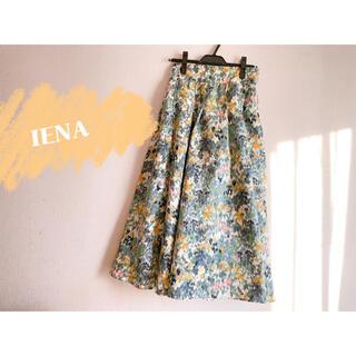 イエナ(IENA)のIENA かすれフラワー ギャザースカート◆(ロングスカート)