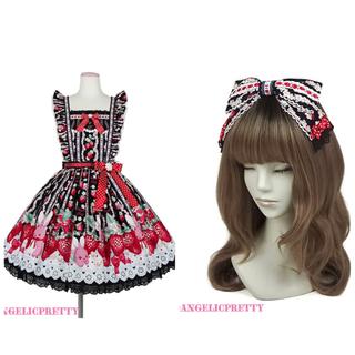 Angelic Pretty - Little bunny strawberry セット 黒