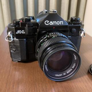 キヤノン(Canon)のCanon A-1 レンズ、レンズフィルター付【一部動作確認済】(フィルムカメラ)