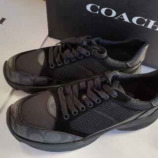 コーチ(COACH)の正規店購入 コーチ シグネチャー レザースニーカー 新品、箱付き(スニーカー)