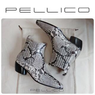 ペリーコ(PELLICO)の定価82500円 新品 希少 PELLICO サイドゴア パイソン ブーツ(ブーツ)