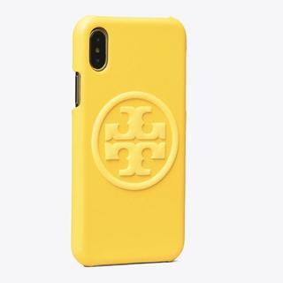 トリーバーチ(Tory Burch)の【ショップ袋付き】新品未使用 トリーバーチ iPhoneX/XSケース イエロー(iPhoneケース)
