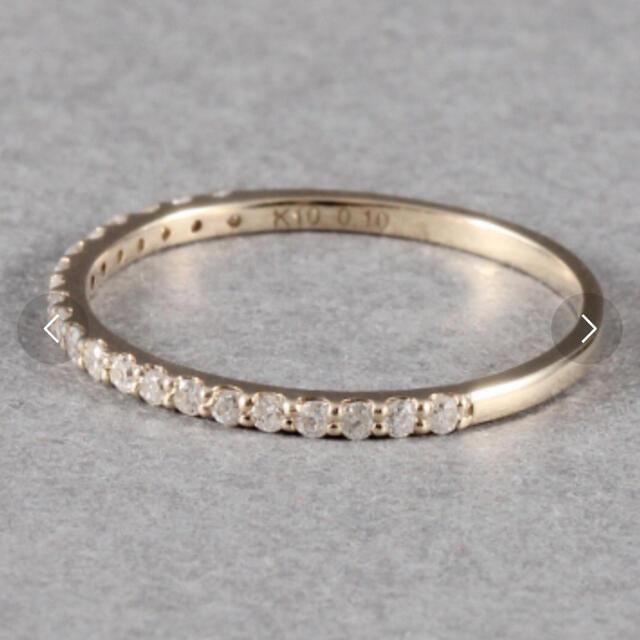 めぐちさん専用 briller ハーフエタニティ ピンキーリング 5号 ゴールド レディースのアクセサリー(リング(指輪))の商品写真