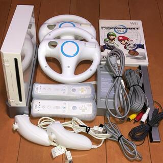 Wii - 任天堂 Wii すぐ遊べる本体 マリオカート フルセット