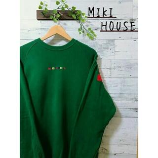 ミキハウス(mikihouse)のMIKI HOUSE  スウェット  90s  刺繍  熊  くま  ベア(スウェット)
