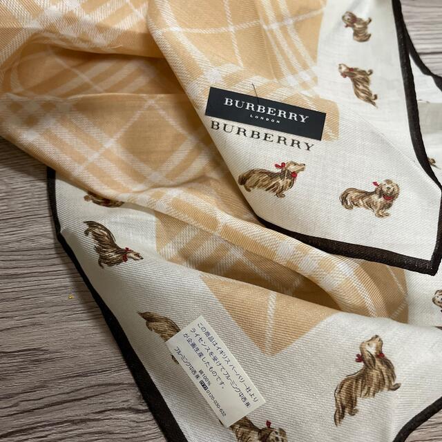 BURBERRY(バーバリー)のバーバリーハンカチドッグ柄 レディースのファッション小物(ハンカチ)の商品写真