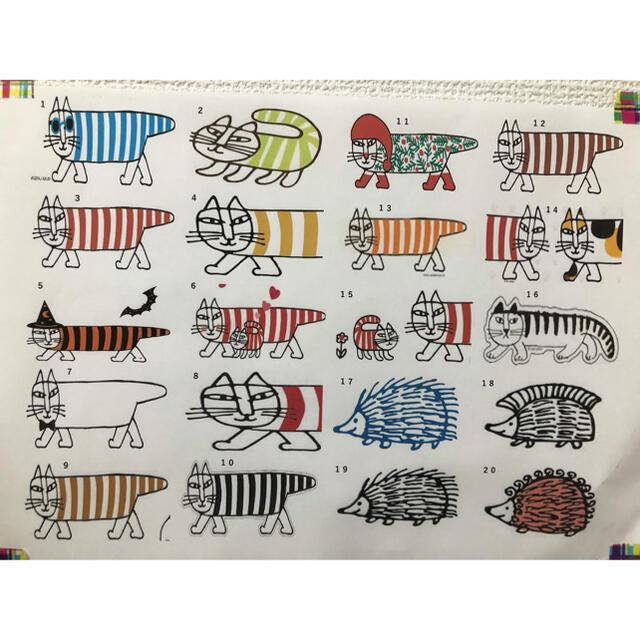 Lisa Larson(リサラーソン)のリサラーソン ハリネズミ ライオン 猫 ウォールステッカー  ステッカー シール インテリア/住まい/日用品のインテリア小物(その他)の商品写真