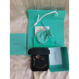 Tiffany & Co. - 美品ティファニー Tスマイルペンダントネックレス ラージサイズ