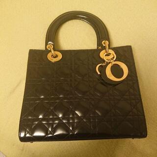 ディオール(Dior)の美品 レディディオール ミラーカーフ(ハンドバッグ)