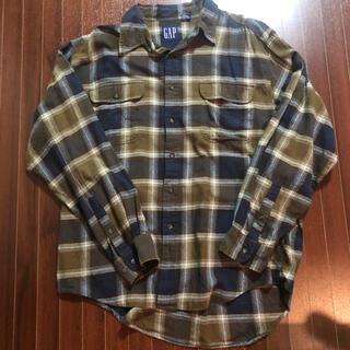 ギャップ(GAP)の90s OLD GAP シャツ ネルシャツ ブラウン(シャツ)