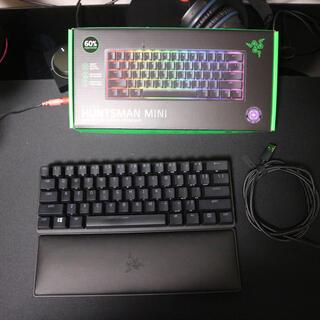 レイザー(LAZER)のRazer Huntsman Mini 紫軸 us配列 レストパッド付き(PC周辺機器)