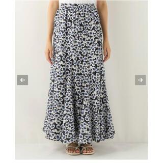 ユナイテッドアローズ(UNITED ARROWS)のMARIHA マリハ フラワー マーメード スカート 36・ネイビー(ロングスカート)