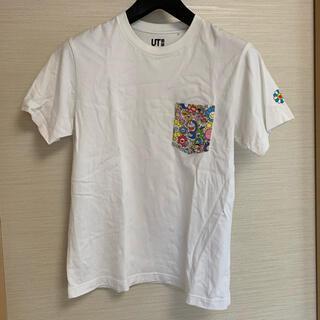 UNIQLO - 【人気】 ユニクロ ドラえもん × 村上隆 ポケット Tシャツ 白色 Sサイズ