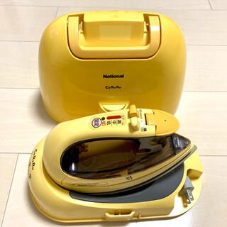 Panasonic - ナショナル コードレス スチームアイロン カルル CaRuRu オレンジ