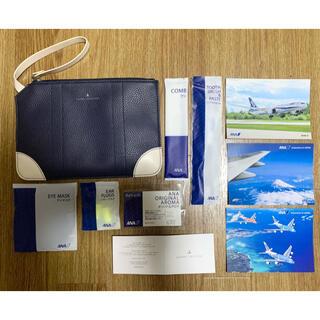 グローブトロッター(GLOBE-TROTTER)のANA ビジネスクラス グローブ・トロッターのポーチ、アメニティ、ハガキ(旅行用品)