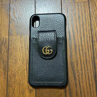 グッチ(Gucci)の【GUCCI】グッチ レザー GGマーモント iPhoneXRケース ポケット付(iPhoneケース)