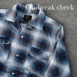 ビームス(BEAMS)のオンブレチェック オープルカラーシャツ ブルー  beams + (シャツ)