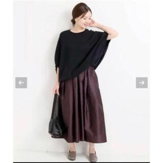 イエナ(IENA)のIENA AIDAタフタギャザースカート ボルドー 36(ロングスカート)
