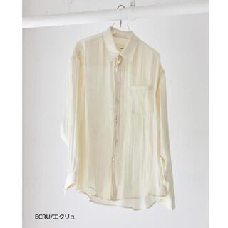 TODAYFUL - todayful  Crepesatin Over Shirts  エクリュ