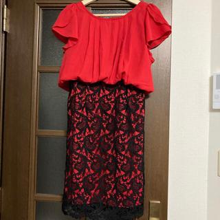 デイジーストア(dazzy store)のドレス/ワンピース(赤×黒)(ミディアムドレス)