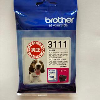 ブラザー(brother)の【純正】ブラザーインクカートリッジ3111 マゼンタ(PC周辺機器)