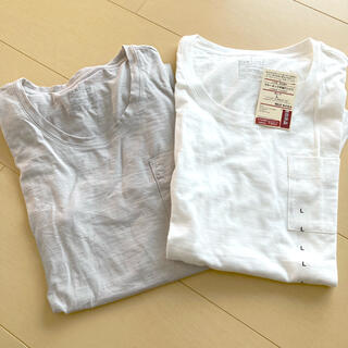 ムジルシリョウヒン(MUJI (無印良品))の無印良品 クールネック半袖Tシャツ Lサイズ(Tシャツ(半袖/袖なし))
