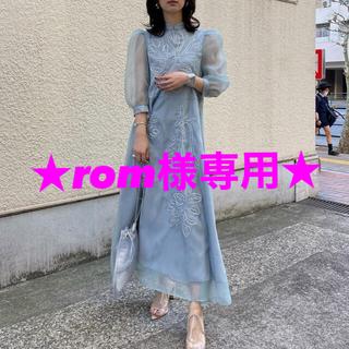 Ameri VINTAGE - AMERI MEDI FOREST EMBROIDERY DRESS ドレス
