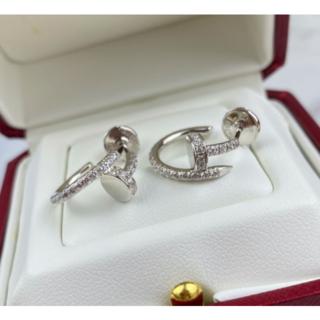 カルティエ(Cartier)のカルティエ CARTIER ピアス 18K ホワイトゴールド ダイヤモンド(ピアス)