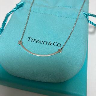 Tiffany & Co. - 中古品 tiffany シルバー スマイルネックレス