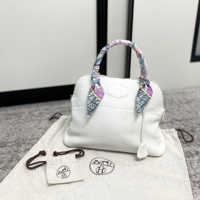 Hermes(エルメス)のHERMES エルメス ボリード31 トリヨンクレマンス ホワイト レディースのバッグ(ハンドバッグ)の商品写真