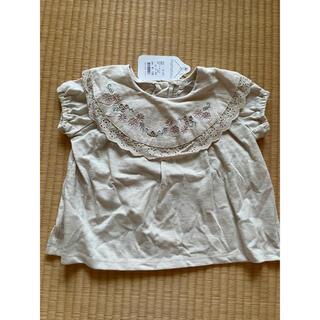 フタフタ(futafuta)のバースデイ ママラク mamaraku 刺繍 襟レース トップス 半袖(Tシャツ/カットソー)