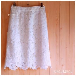 ミッシュマッシュ(MISCH MASCH)の《MISCH MASCH》レースタイトスカート M(ひざ丈スカート)
