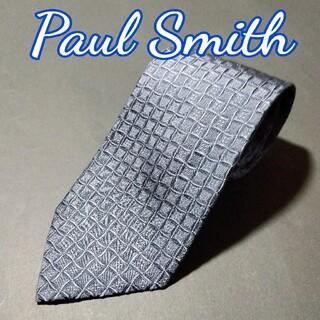 ポールスミス(Paul Smith)の【極美品】Paul Smith 格子柄 ネクタイ ネイビー(ネクタイ)