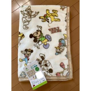 ディズニー(Disney)のミッキー  ウェルカムフレンズ ミニ毛布  70×100(毛布)