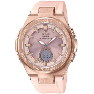 カシオ G-MS 大人カジュアル 電波ソーラー 腕時計 ピンク