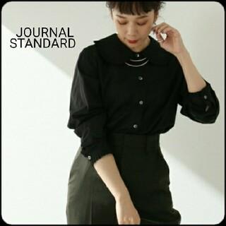 JOURNAL STANDARD - 【美品】JOURNAL STANDARD ローンフリルブラウス 黒 ML 秋冬