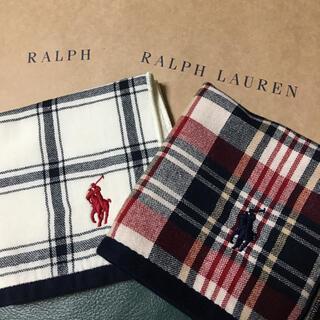 Ralph Lauren - ラルフローレン ミニハンカチ2枚①