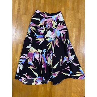 フレイアイディー(FRAY I.D)のフレアロングスカート 柄 サイズは詳細をご覧ください。 【FRAY I.D】(ロングスカート)