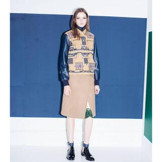 サカイ(sacai)のsacaiサカイの異素材ミックスが可愛いウールスカート(ひざ丈スカート)