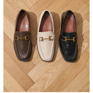 グレイル(GRL)の【再入荷品】ビットデザインスクエアトゥローファー(ローファー/革靴)