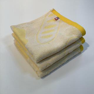 今治タオル - フェイスタオル今治タオル スポーツ まとめて 3枚 日本製 パン柄 イエロー