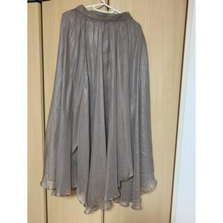 リリーブラウン(Lily Brown)のLily Brown 光沢シアースカート タグなしのほぼ新品(ロングスカート)