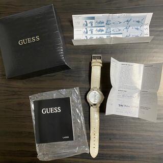 ゲス(GUESS)のguess ゲス 腕時計 レディース 白 訳あり ビジュー ストーン(腕時計)