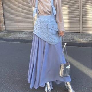 アメリヴィンテージ(Ameri VINTAGE)のアメリ  シフォン&ニット ドッキングスカート(ロングスカート)
