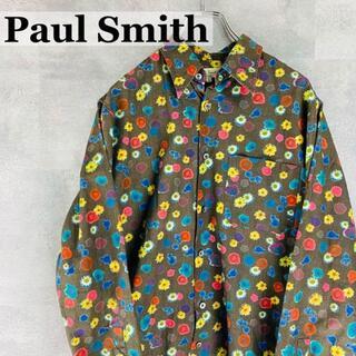 Paul Smith - ポールスミス 小花柄 デザインシャツ L 長袖 カラフル フラワー
