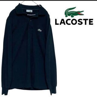 LACOSTE - 70s chemise LACOSTE フレンチラコステ ポロシャツ 黒 長袖