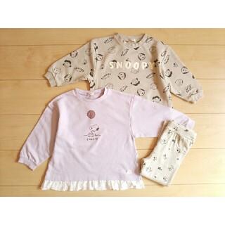 スヌーピー(SNOOPY)の子供服SNOOPY*新品トレーナー*未使用スヌーピー*送料無料キッズ服セット(Tシャツ/カットソー)